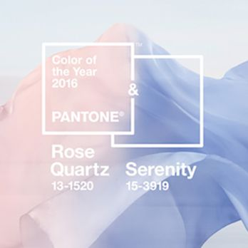Rose Quartz & Serenity: As Cores de 2016